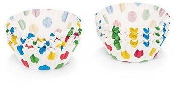 Patisse Papierbackförmchen weiß mit bunten Punkten Maxi