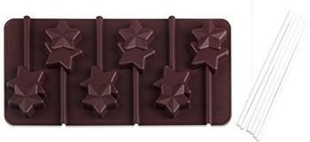 Dr. Oetker Silikon-Schokoladenform Lolli-Sterne 2er Set