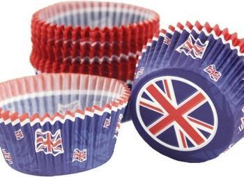 Wilton Papier-Backförmchen Union Jack