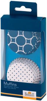 Birkmann Muffinform Papierförmchen Colour Splash blau 48 Stück