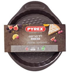 Pyrex Pie mould with removable bottom in metal asimetriA 25 cm