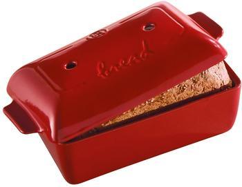 Emile Henry Rectangular bread mould 24 cm Red