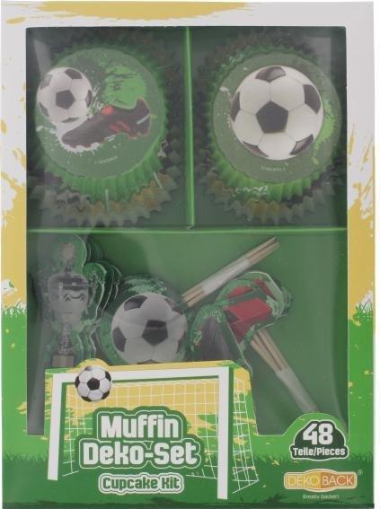 Dekoback Muffin Deko-Set Fußball