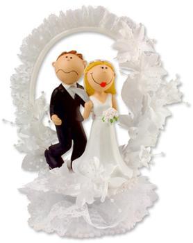 Günthart Tortenaufsatz Lustiger Brautpaaraufsatz