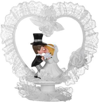 Günthart Tortenaufsatz Küssendes Porzellan-Brautpaar