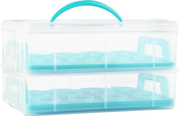 Klarstein blue Cookie Kuchentransportbehälter