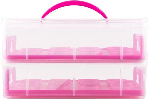 Klarstein pink Cookie Kuchentransportbehälter