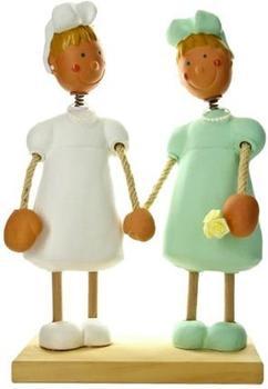 Jullar Kuchendekoration Brautpaar, zwei Frauen
