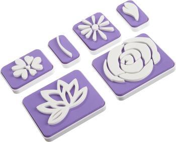 Wilton Stempelset Blumen- und Blätterdekor 6 Stück
