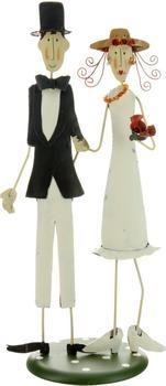 Jullar Tortendekoration Brautpaar, Metall, klein