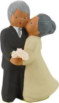 """Jullar Tortendekoration Brautpaar küssend """"Jahrestag"""""""