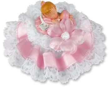 Günthart Poly- Tauf- Aufsatz mit rosa Baby