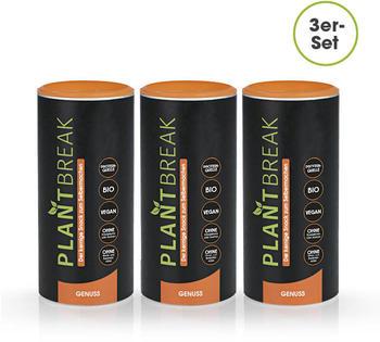 Plantbreak Genuss Protein Fitnessriegel-Backmischung (3 x 300g)