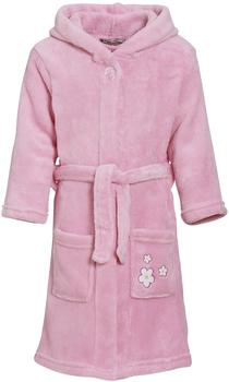 Playshoes Fleece Bademantel Blumen-Stickerei
