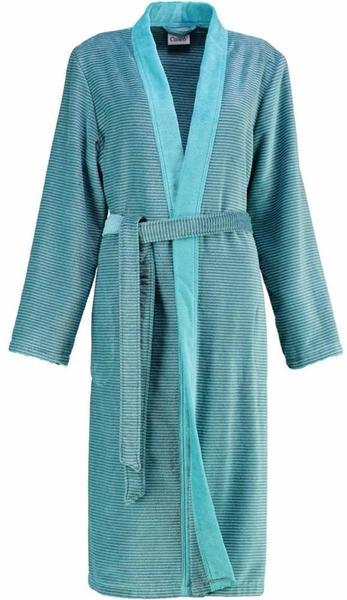 Cawö Kimono Two-Tone mit Schalkragen türkis