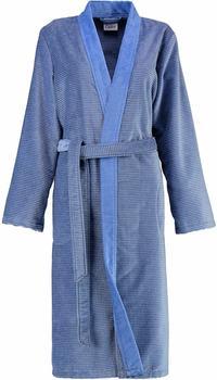 Cawö Kimono Two-Tone mit Schalkragen blau