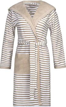 Esprit Bademantel Striped Hoody mocca