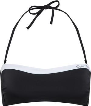 Calvin Klein Logotape Bandeau-Bikini-Oberteil schwarz (KW0KW00452-001)