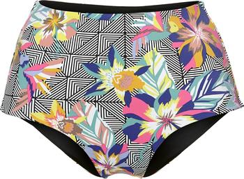 O´Neill Reversible High Waist Bikini Bottom black graphic small pink (8A8572-9945)