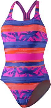 Adidas Allover Print Badeanzug pink/trace royal/real pink (CV3606)