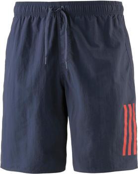 Adidas 3-Streifen Water Boxer Badeshorts trace blue/scarlet (CV5186)