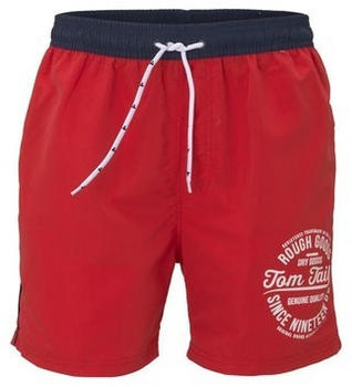 Tom Tailor Badeshorts in Logo-Stickerei vorne poppy red (428539 0010)
