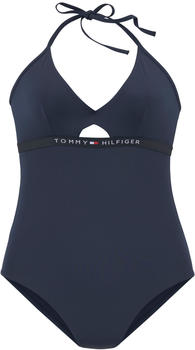 Tommy Hilfiger Swim Suit with Cut Outs (UW0UW01425) pitch blue