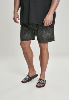 Urban Classics Patternswim Shorts (TB2679-01692-0040) palm/olive