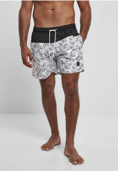 Urban Classics Low Block Pattern Swim Shorts (TB3963-02832-0054) jungle pattern/black
