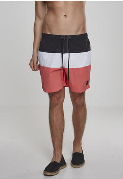 Urban Classics Color Block Swimshorts Firered/navy/white (TB2051-01321-0042) coral/black/white
