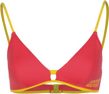 Tommy Hilfiger Retro Logo Triangle Bikini Top laser pink (UW0UW02107TJN)