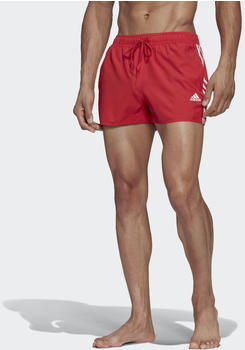 Adidas 3-Streifen Badeshorts glory red (FJ3368-0004)