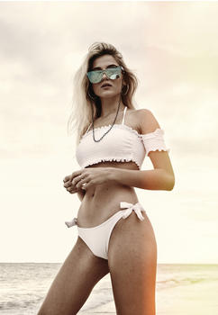 Urban Classics Ladies Smoked Bikini (TB2585-00220-0042) white
