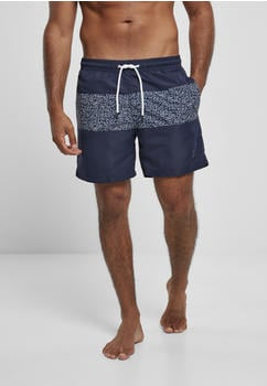 Urban Classics Mid Block Pattern Swim Shorts (TB3964-02831-0042) darkwater
