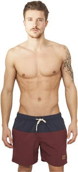 Urban Classics Block Swim Shorts (TB1026-00675-0054) navy/burgundy