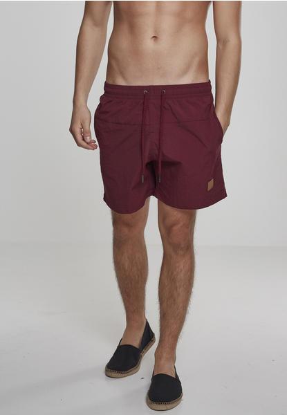 Urban Classics Block Swim Shorts (TB1026-01151-0042) cherry