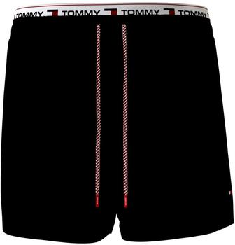 Tommy Hilfiger Logo Tape Mid Length Swim Shorts (UM0UM02043) black