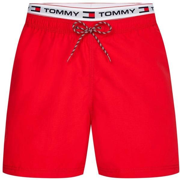 Tommy Hilfiger Logo Tape Mid Length Swim Shorts (UM0UM02043) primary red