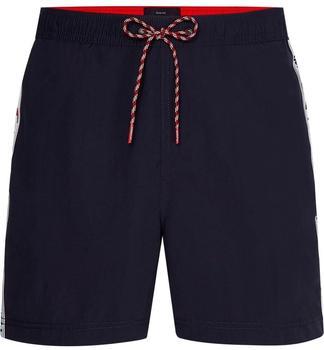 Tommy Hilfiger Logo Tape Slim Fit Mid Length Swim Shorts (UM0UM02042) desert sky