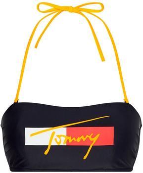 Tommy Hilfiger Signature Colour-Blocked Bandeau Bikini Top desert sky (UW0UW02939-DW5)