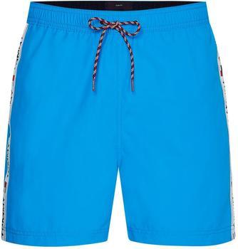Tommy Hilfiger Logo Tape Slim Fit Mid Length Swim Shorts (UM0UM02042) hyper blue