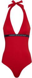 Tommy Hilfiger Logo Halter Neck One-Piece Swimsuit (UW0UW02711) primary red