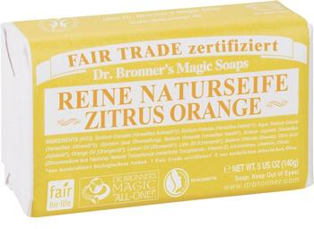 Dr. Bronner's Stückseife Zitrus-Orange (140g)