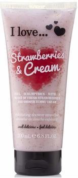 I love Strawberries & Cream Körperpeeling (200 ml)