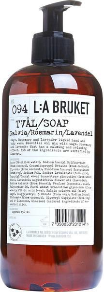 L:A Bruket Sage Rosemary Lavender No. 94 Flüssigseife (450ml)
