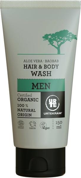 Urtekram Men Hair & Body Wash Aloe Vera & Baobab (150ml)