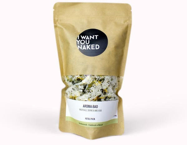 I Want You Naked Aroma-Bad Meersalz, Birke & Melisse Refill (580g)