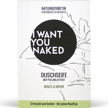 I Want You Naked Dusch-Seife Minze & Mohn (100g)