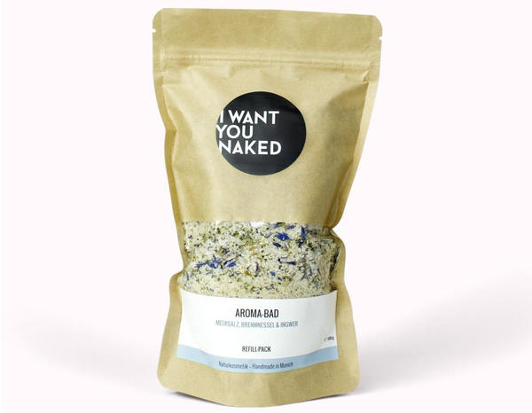 I Want You Naked Aroma-Bad Meersalz, Brennnessel & Ingwer Refill (580g)