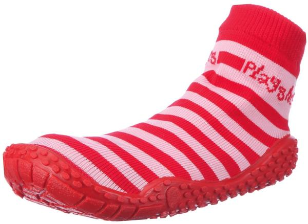 Playshoes Aqua-Socke Streifen rosa/rot